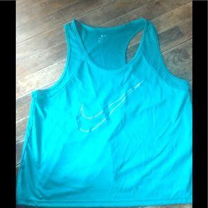 Nike Crop nylon tank. Dri fit. New